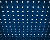 cobalt blue and white Textured Polka Dots Background