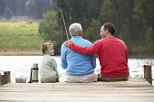 stock photo of fishing rod  - Father - JPG