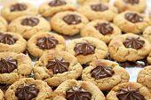 Peanut butter star cookies