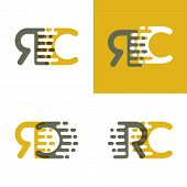 Rc Letters Logo With Accent Speed In Brown And Dark Yellow poster