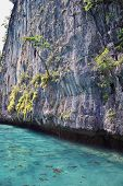 Island, Ocean Views Near Phuket Thailand With Blues, Turquoise And Greens Oceans, Mountains, Boats,  poster