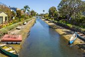 Venice Canal Historic District. Venice Canals In Southern California In Los Angeles. United States poster