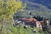 stock photo of sparta  - Mystras fortified medieval settlement at Sparta city in Greece - JPG
