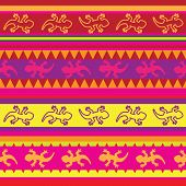mexican lizard fabric seamless pattern