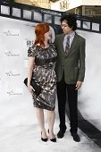 LOS ANGELES - SEPT 25: Christina Hendricks; Geoffrey Arend at the IRIS, A Journey Through the World of Cinema by Cirque du Soleil premiere at the Kodak Theater on September 25, 2011 in Los Angeles, CA