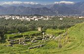 image of sparta  - Ancient and modern Sparta historical city in Greece. Mothercity of King Leonidas of the 300 soldiers fought at Thermopylae against the Persians - JPG
