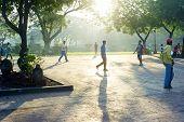 Walking In Rizal Park