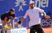 BARCELONA - APRIL, 26: Colombian tennis player Robert Farah in action during his match against Rafae