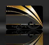 black and golden gift card
