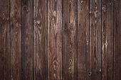 Old Timber Planks. Wood Material, Texture. Wooden Rough Surface. Dark Board Pattern, Grunge Fence. H poster