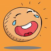 Smiling Face Icon. Face With A Smile. Vector Illustration Of A Laughing Face. Hand Drawn Laughing Fa poster