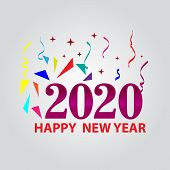 2020. Happy New Years 2020 Illustration Card. Happy New Years 2020 Greeting Card Design Concept. 202 poster