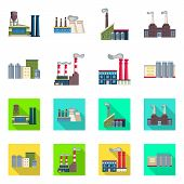 Vector Design Of Industry And Plant Symbol. Set Of Industry And Technology Stock Vector Illustration poster