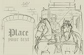 Vector Horse Carriage