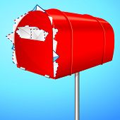 illustration of over loaded mail box showing spam mail