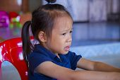 The Sadness Of The Lovely Asian Kid Crying, Asian Little Girl Crying And Sad poster