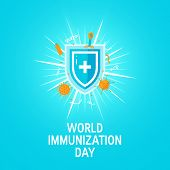 World Immunization Day Concept, Vector Flat Style poster