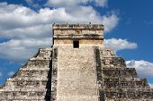 Kukulkan Pyramid Top At Chichen Itza