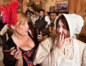 Gossiping Women In Old Saloon