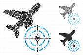 Aviation Target Composition Of Ragged Parts In Variable Sizes And Color Tinges, Based On Aviation Ta poster