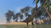 brachiosaurus on shore