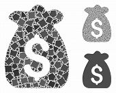 Financial Capital Mosaic Of Rugged Items In Different Sizes And Color Hues, Based On Financial Capit poster