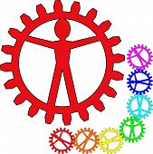 People like gears - company, work, individuality