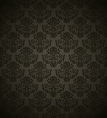 Seamless pattern with gradient background in retro style