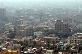 Cityscape of Baghdad, capital of Iraq. Similar buildings with rooftop terraces are typical all over