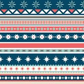 Beautiful Seamless Pattern With Stripes And Snowflake. Winter Background For Christmas Or New Year D poster