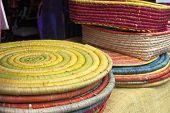 Colorful Raffia Basketry