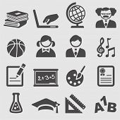 School icons set.Vector