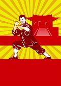 Shaolin Kung Fu Martial Arts Master Retro
