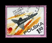 Poland - Circa 1973, Oct 12: Canceled Stamp Printed In Poland, Shows Military Missile Flight, 30Th A