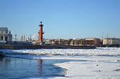 Vasilevsky Island At Winter
