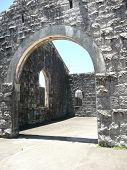 Arch In The Ruins Of The Historic Trial Bay Gaol Nsw Australia