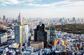 Afternoon cityscape of Shinjuku, Tokyo, Japan.