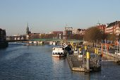 Panorama Of Weser River