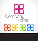 Company Logo In Five Color Combinations