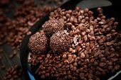 Chocolate Balls With Sprinkles