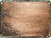 stock photo of copper  - Copper plate texture in a frame - JPG