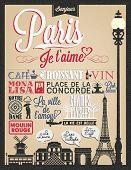 Paris Typographical Background
