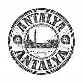 Antalya grunge rubber stamp
