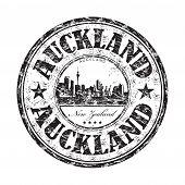 Auckland grunge rubber stamp