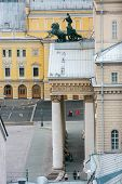 Moscow, Russia - May 17, 2012: Aerial View To Bolshoi Theatre Main Entrance In Moscow On May 17, 201