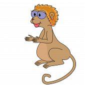 Ilustração em vetor macaco dos desenhos animados