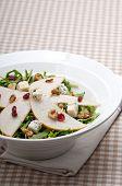 Fresh Pears Arugula Gorgonzola Cheese Salad