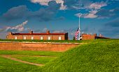 image of revolutionary war  - Seen here are summer storm clouds over Fort McHenry - JPG