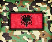 foto of ami  - Amy camouflage uniform with flag on it Albania - JPG