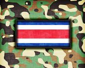 foto of ami  - Amy camouflage uniform with flag on it Costa Rica - JPG